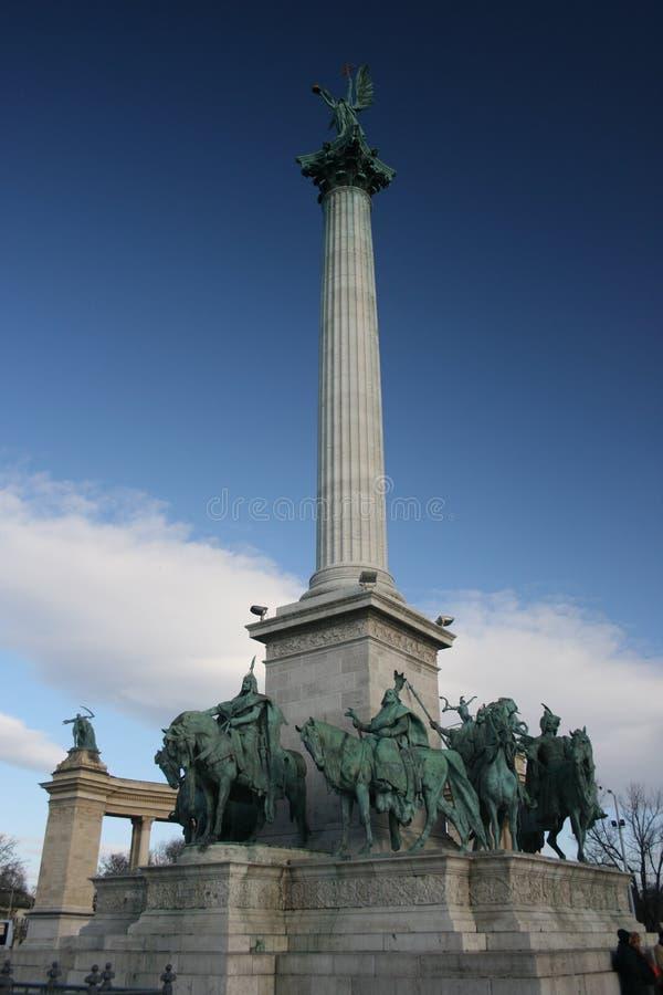 quadrato degli eroi di Budapest fotografia stock