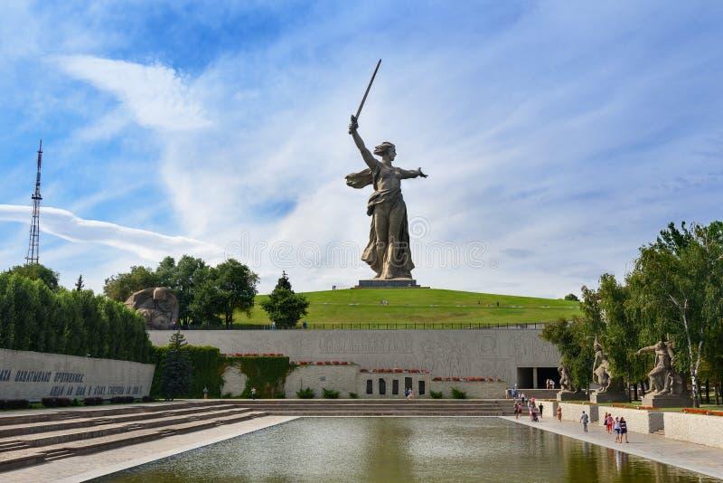Quadrato degli eroi Mamayev complesso commemorativo Kurgan a Volgograd immagine stock