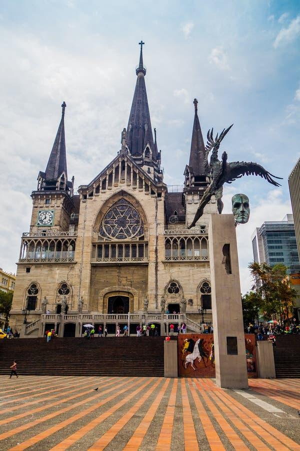 Quadrato del Bolivar a Manizales, Colombia immagini stock