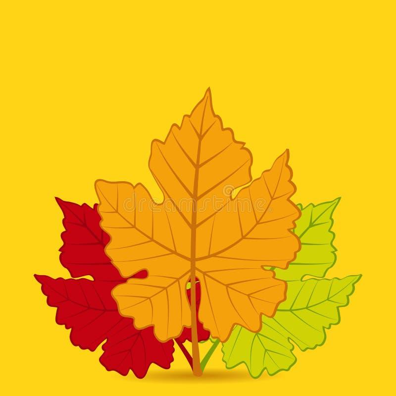 Quadrato del fondo della foglia di autunno royalty illustrazione gratis