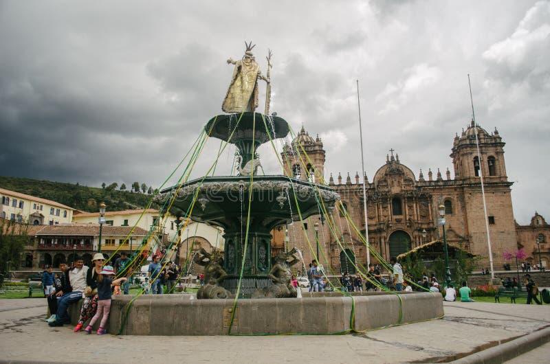 Quadrato del guerriero, Cusco fotografia stock libera da diritti