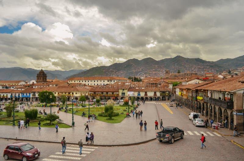 Quadrato del guerriero, Cusco immagini stock