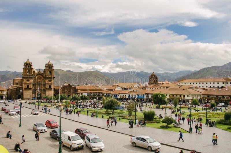 Quadrato del guerriero, Cusco fotografie stock libere da diritti