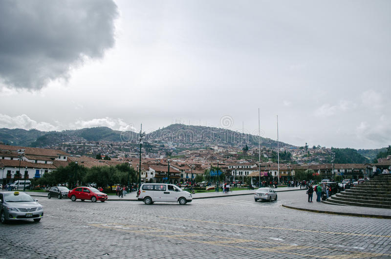 Quadrato del guerriero, Cusco immagine stock libera da diritti
