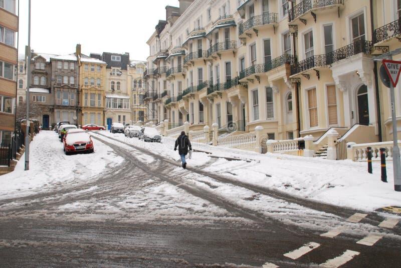 Quadrato del guerriero nella neve fotografie stock libere da diritti