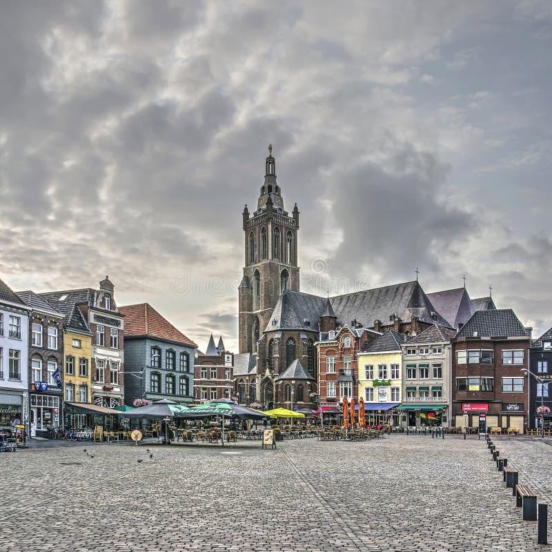 Quadrato del mercato di Roermond fotografie stock libere da diritti