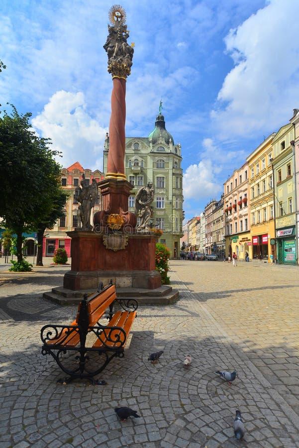 Quadrato del mercato in Swidnica immagine stock