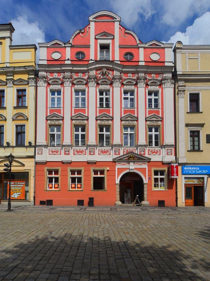 Quadrato del mercato in Swidnica fotografia stock libera da diritti