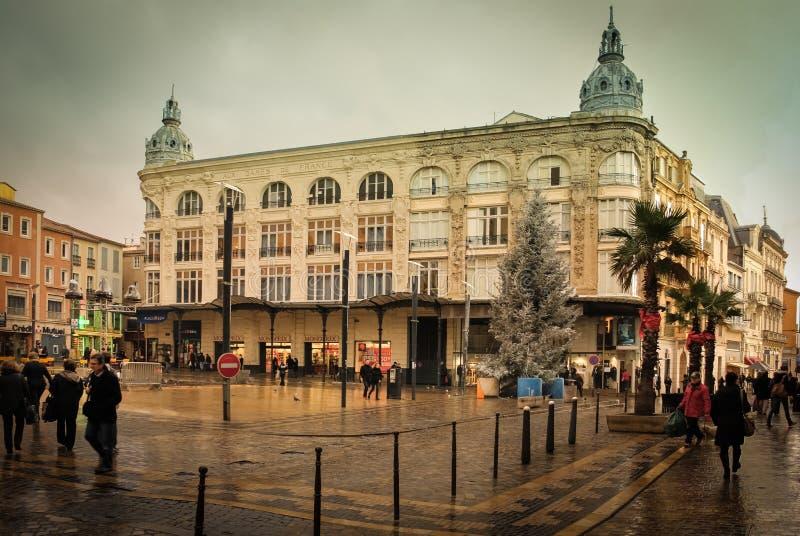 Quadrato del municipio Narbona france immagini stock libere da diritti