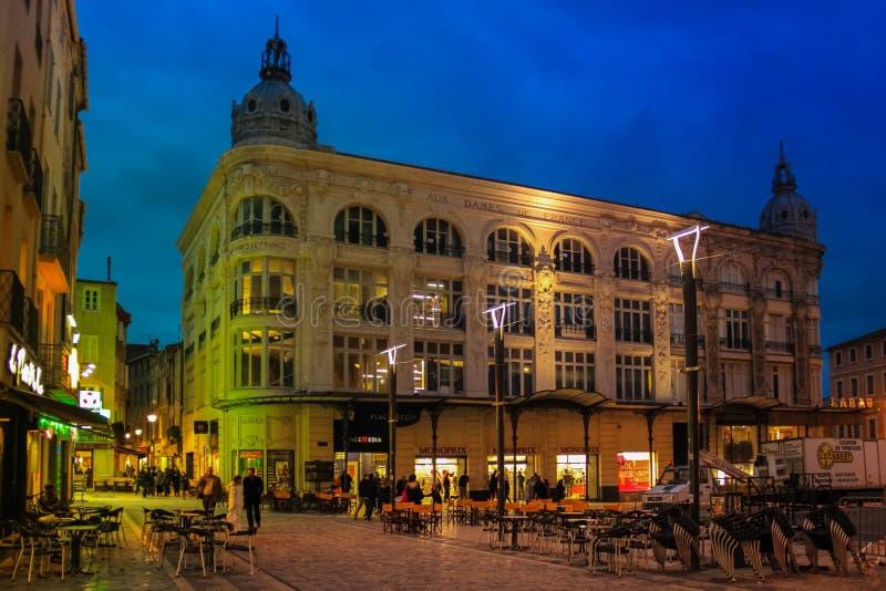 Quadrato del municipio Narbona france immagine stock libera da diritti