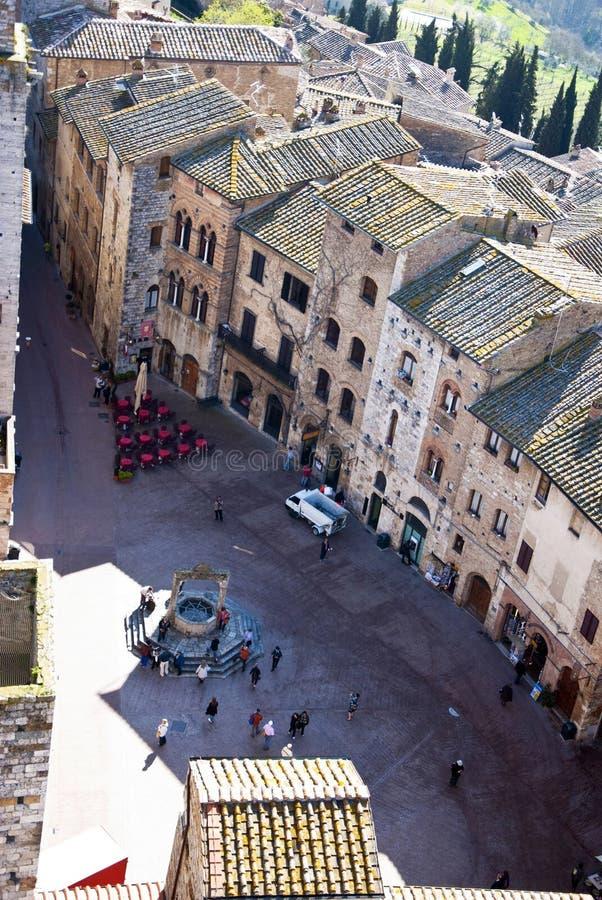 Quadrato del San Gimignano - Italia toscana fotografia stock
