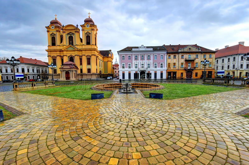 Quadrato del sindacato, Timisoara, Romania fotografia stock libera da diritti