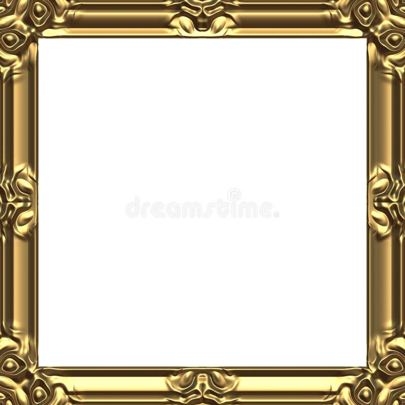 Quadrato dell'oro delle cornici fotografia stock