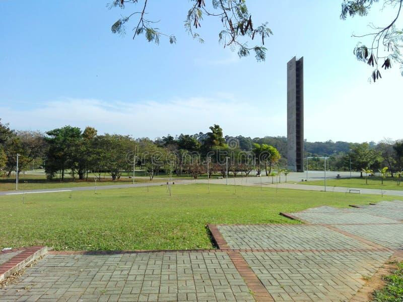 Quadrato dell'orologio dell'università di São Paulo Brazil immagini stock libere da diritti