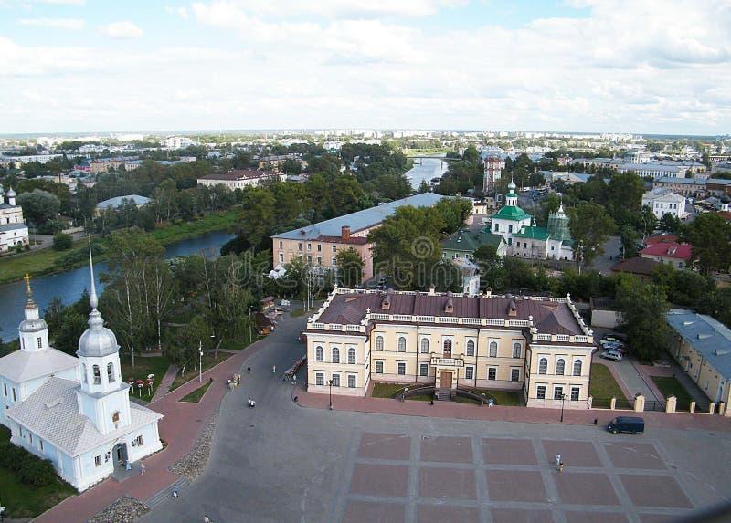 Quadrato della cattedrale in Vologda immagine stock