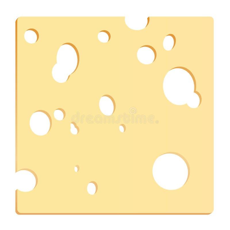 Quadrato della fetta del formaggio royalty illustrazione gratis
