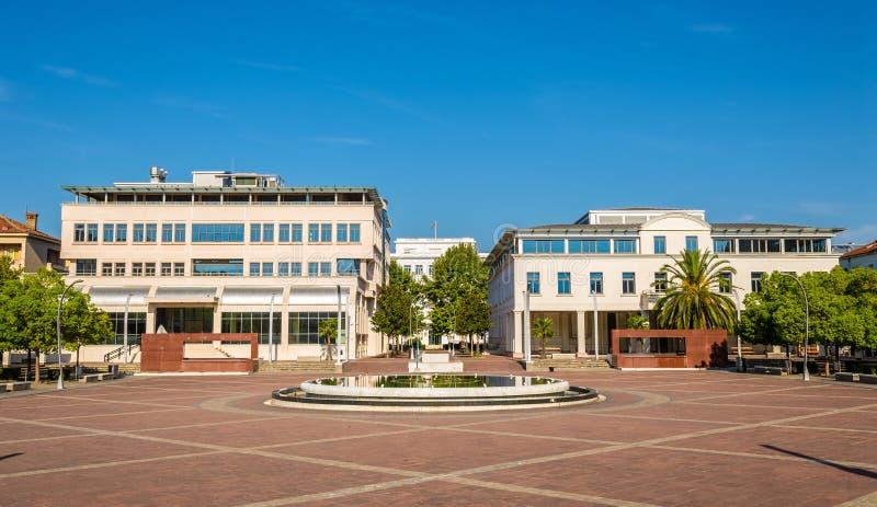 Quadrato della Repubblica a Podgorica immagini stock