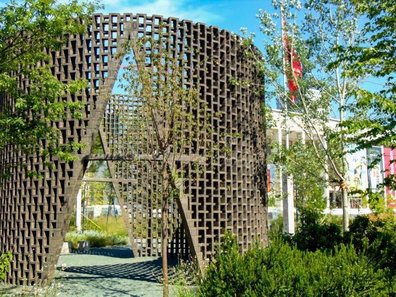Quadrato dello Skanderbeg, Tirana, Albania fotografia stock libera da diritti