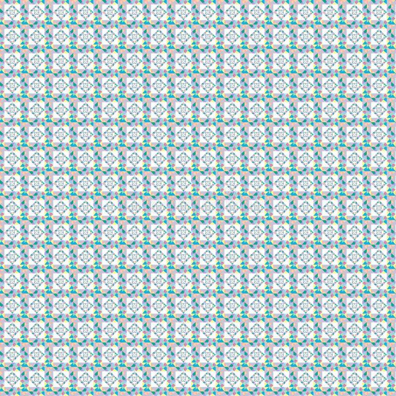 Quadrato di arte di colore pastello del modello fotografia stock