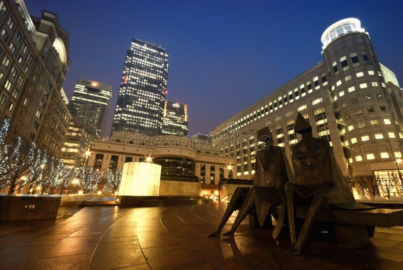 Quadrato di Cabot, Londra fotografia stock libera da diritti