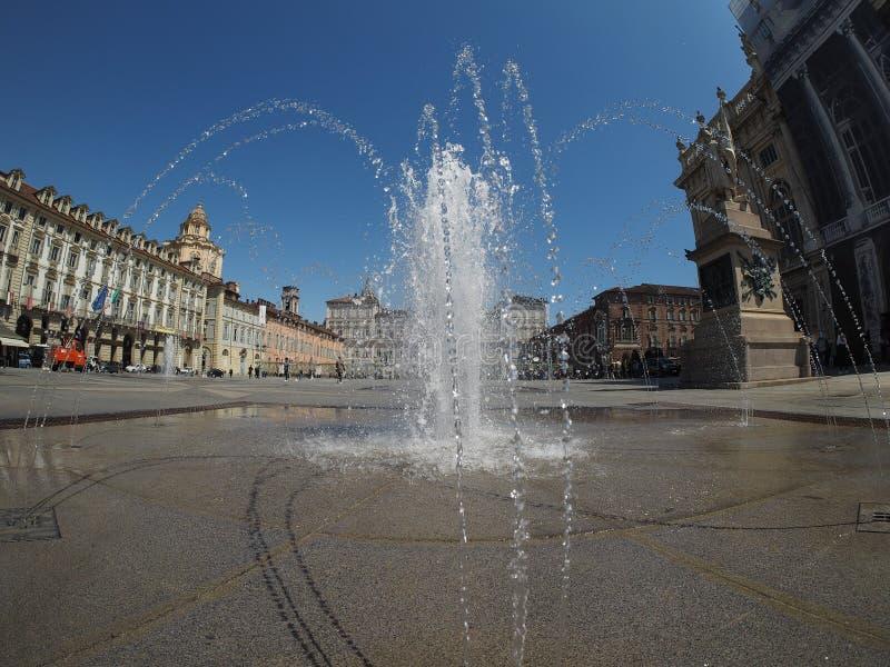 Quadrato di Castello della piazza a Torino fotografie stock