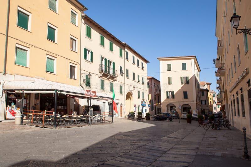 Quadrato di Cavour, Portoferraio, isola dell'Elba fotografia stock