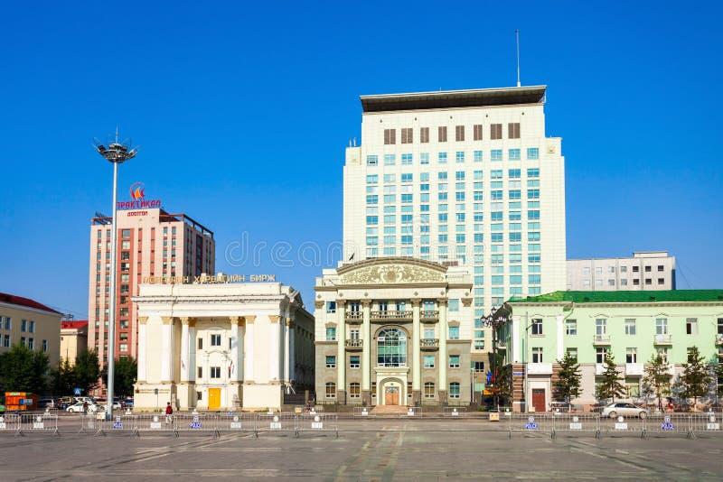 Quadrato di Chinggis Sukhbaatar, Ulaanbaatar fotografie stock libere da diritti
