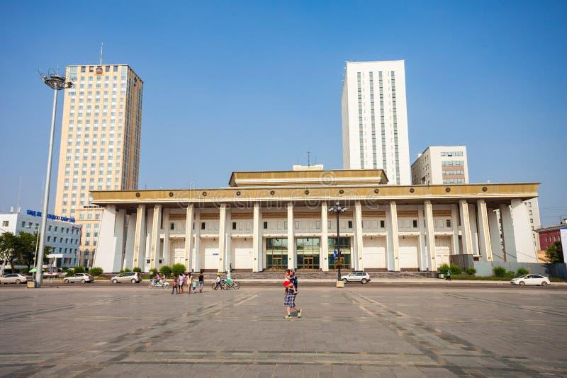 Quadrato di Chinggis Sukhbaatar, Ulaanbaatar immagini stock libere da diritti