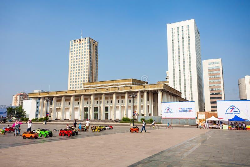 Quadrato di Chinggis Sukhbaatar, Ulaanbaatar fotografie stock