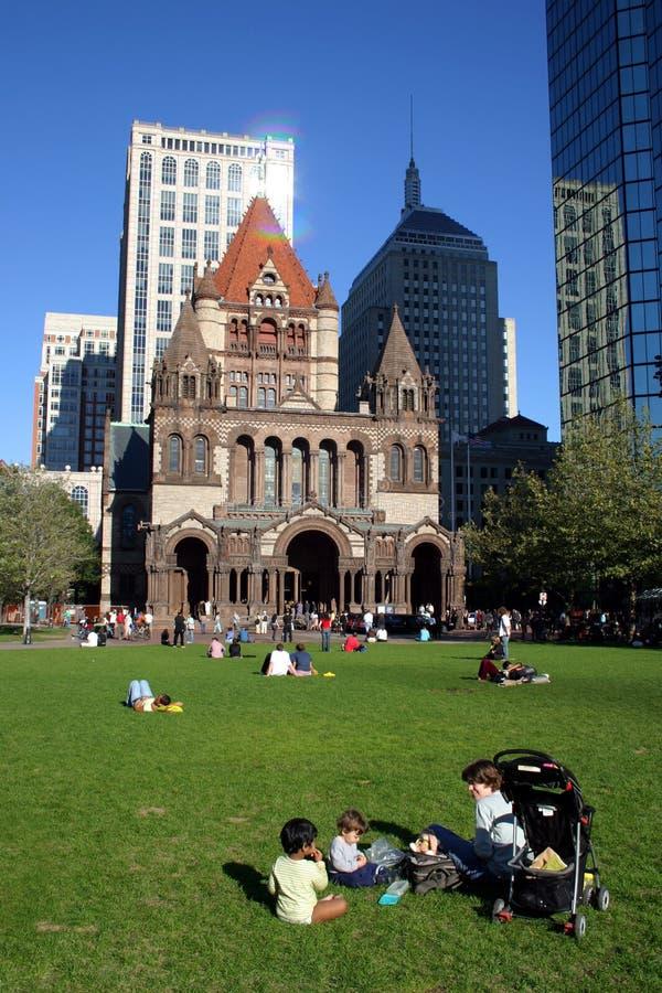 Quadrato di Copley, Boston fotografia stock libera da diritti