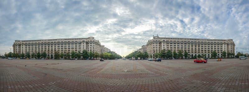 Quadrato di costituzione a Bucarest immagine stock libera da diritti