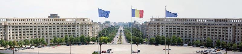 Quadrato di costituzione, Bucarest - vista aerea fotografie stock