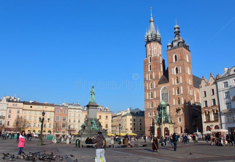 Quadrato di Cracovia, Polonia fotografia stock libera da diritti