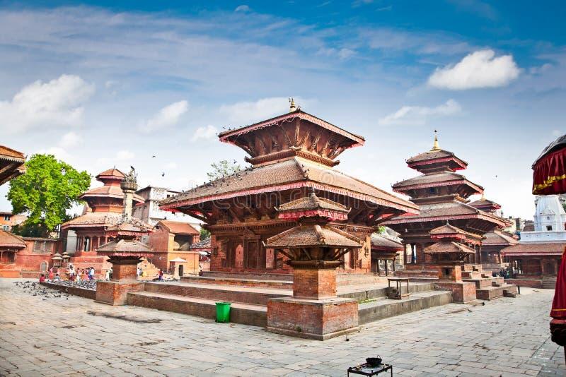Quadrato di Durbar nella valle di Kathmandu, Nepal. fotografia stock libera da diritti