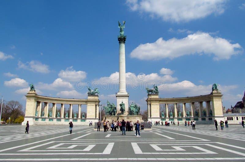 Quadrato di eroi in Budapesht, Ungheria fotografie stock
