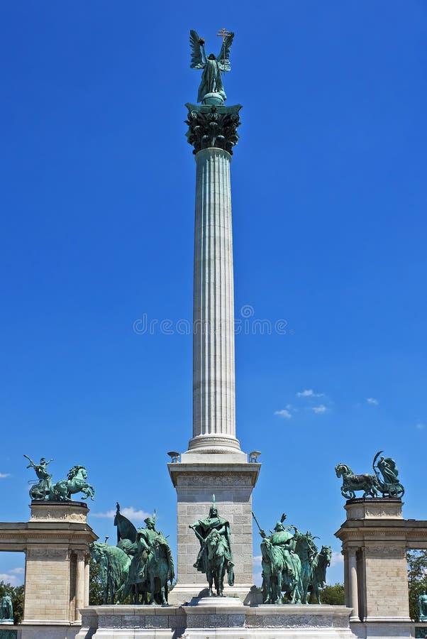 Quadrato di eroi, Budapest fotografie stock libere da diritti