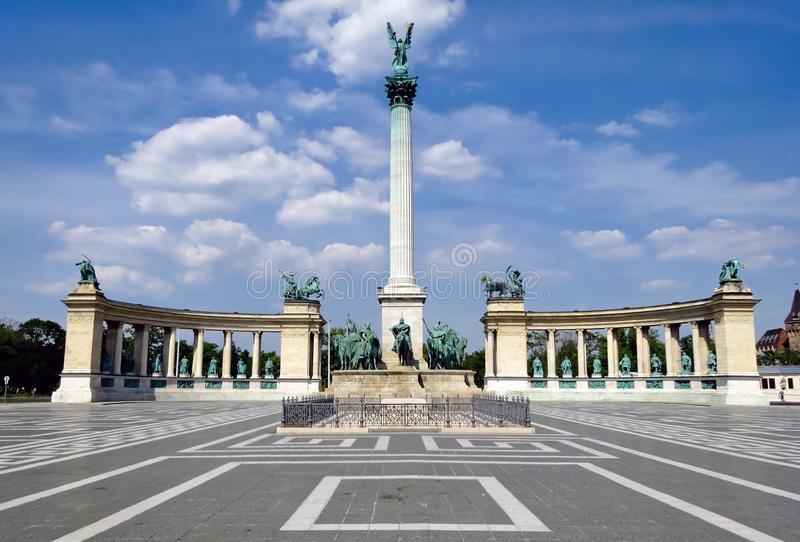 Quadrato di eroi a Budapest fotografie stock libere da diritti