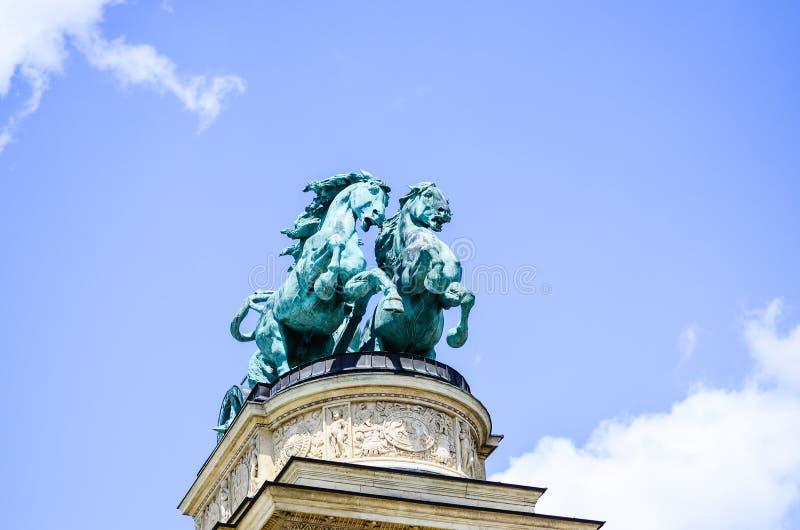 Quadrato di eroi - Budapest, Ungheria fotografia stock libera da diritti