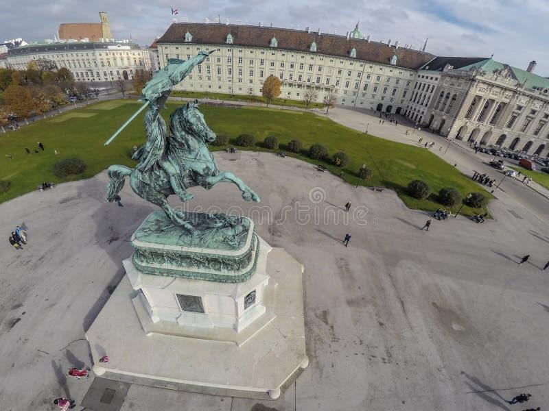Quadrato di eroi a Vienna fotografia stock