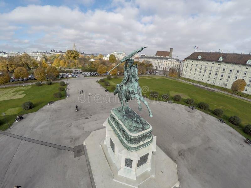 Quadrato di eroi a Vienna immagine stock libera da diritti