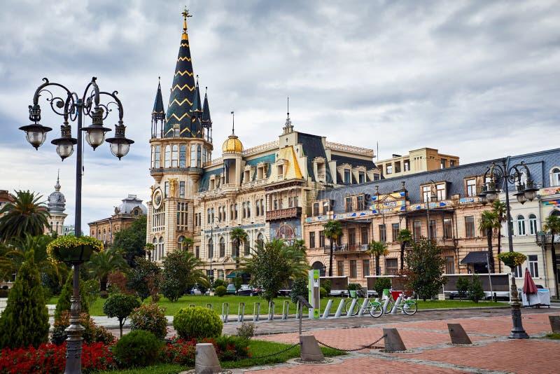 Quadrato di Europa a Batumi fotografie stock libere da diritti