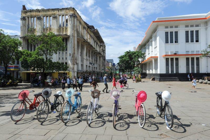 Quadrato di Fatahilah nel ` s Kota Town anziano, Indonesia di Jakarta immagini stock libere da diritti