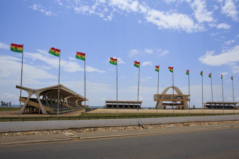 Quadrato di indipendenza, Accra fotografia stock libera da diritti