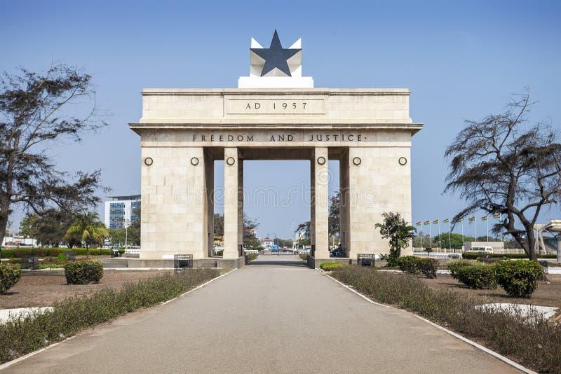 Quadrato di indipendenza, Accra, Ghana immagine stock libera da diritti