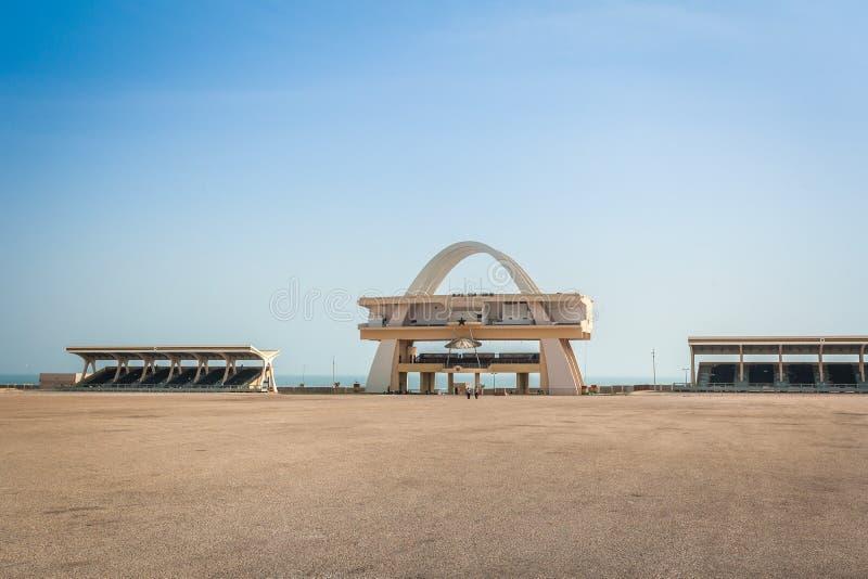 Quadrato di indipendenza a Accra, Ghana immagine stock