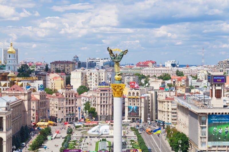 Quadrato di indipendenza a Kiev, Ucraina immagine stock libera da diritti