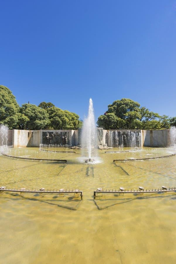 Quadrato di indipendenza nella città del Mendoza, Argentina fotografia stock