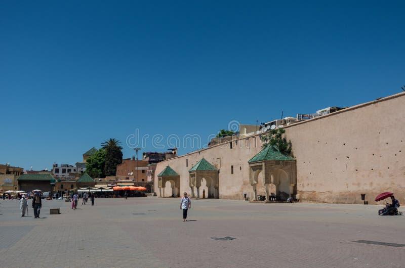 Quadrato di Lahdim della città imperiale medievale di Meknes morocco fotografia stock libera da diritti