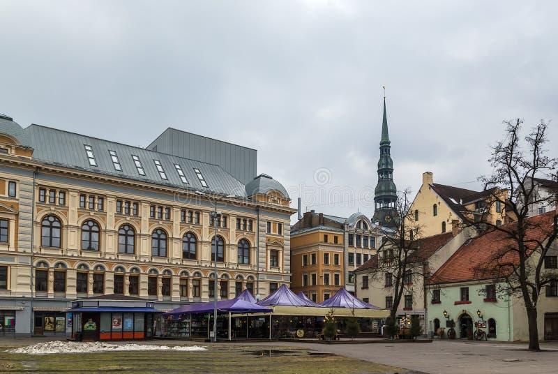 Quadrato di Livu, Riga fotografie stock
