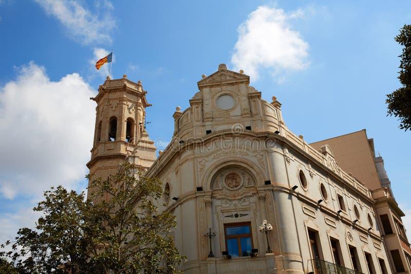 Quadrato di Major Plaza in Borriana di Castellon immagini stock libere da diritti